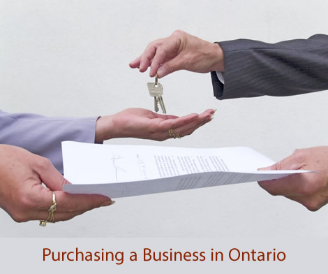 Purchasing a Business in Ontario