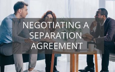Negotiating a Separation Agreement