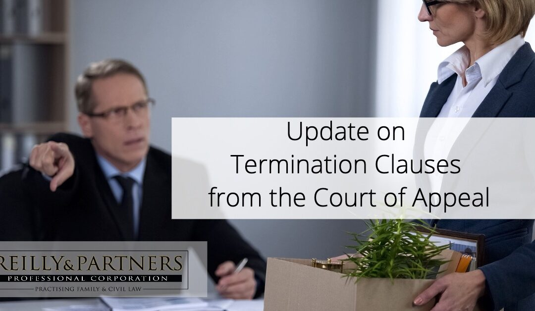 Update on Termination Clauses from the Court of Appeal